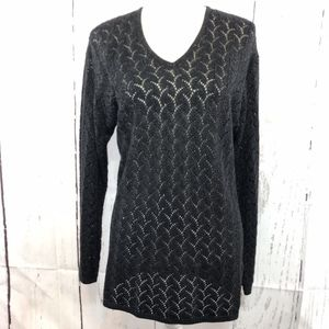 THEOMILES LONG SLEEVE BLACK LACE SIZE L